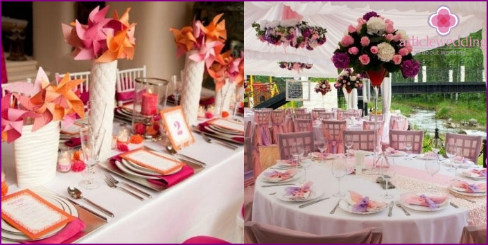 Japanese Style Wedding Hall Decoration