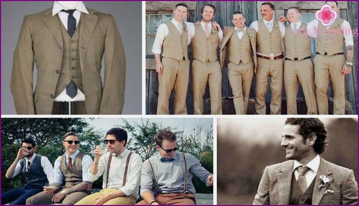 60s groom wedding suit