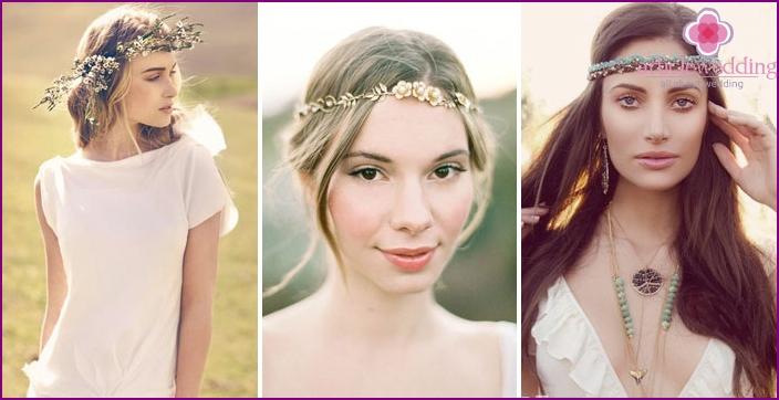 Hippie Bride Accessories & Hairstyle