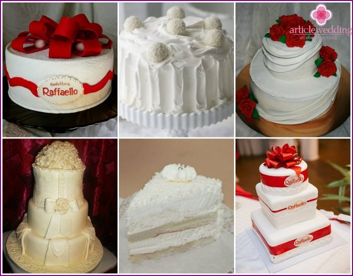 Raffaello cake for a wedding