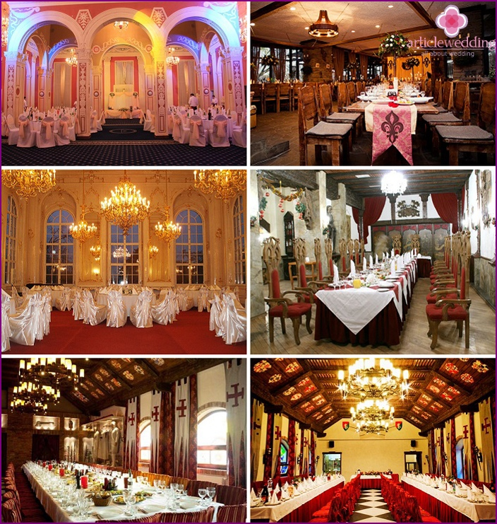 Banquet hall in royal traditions