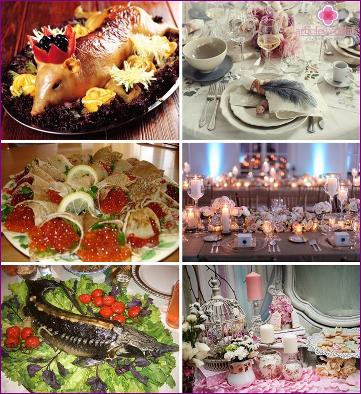 Royal style wedding table