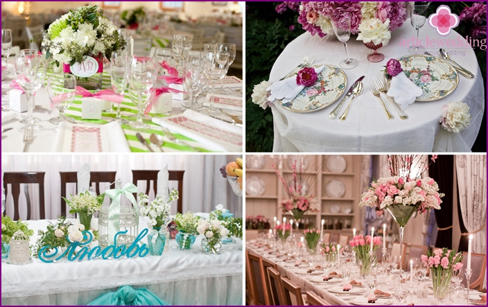 Spring table decoration accessories