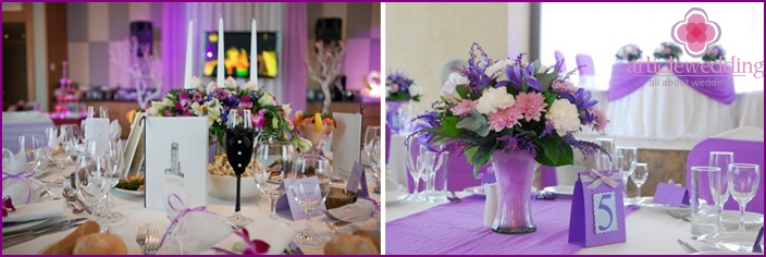 Lilac spring wedding decoration