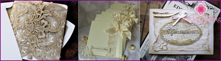 Dekorierte Hochzeitseinladung