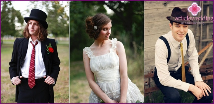 Vintage-Stil für eine Hochzeit