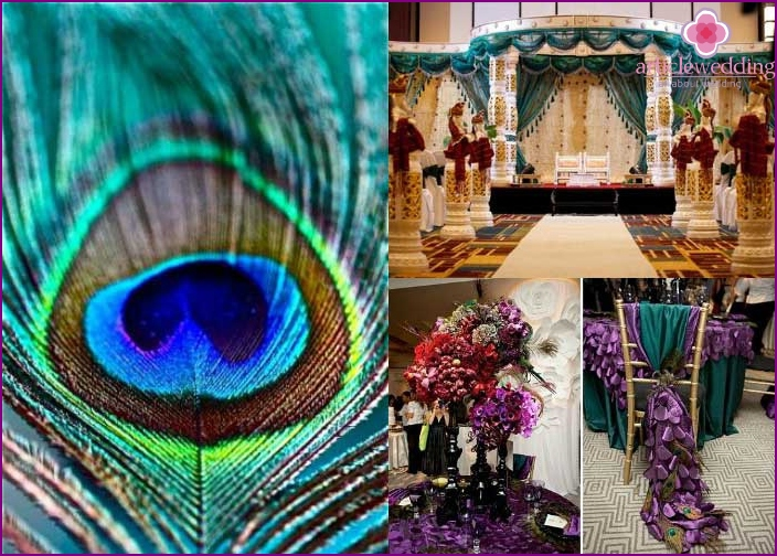 "Indian-style room decoration ""Peacock Feather"""