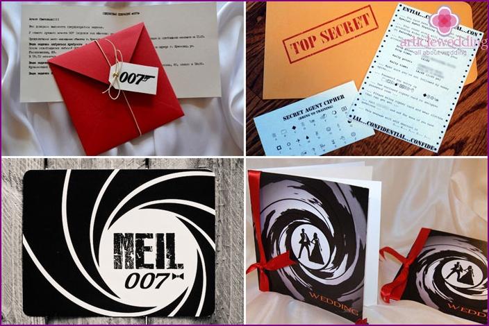 Spy Wedding Invitation Cards