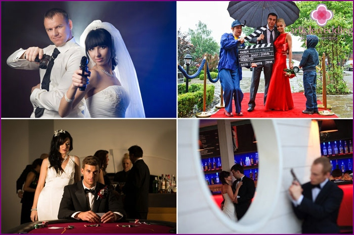 James Bond Wedding Photoshoot Ideas