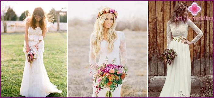 Brautjungfernkleider für eine moderne rustikale Hochzeit
