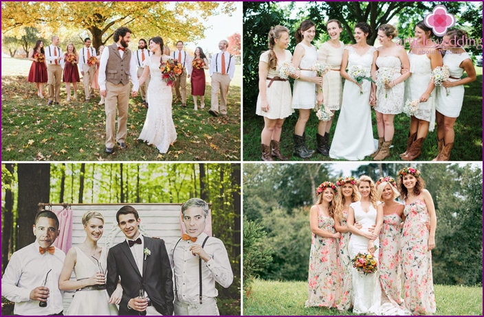 Themed guest outfits for a rustic wedding