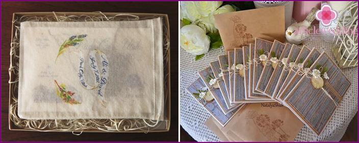 Rustikales Hochzeits-Einladungs-Dekor