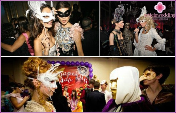 Images of the venetian carnival