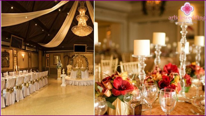 The colors of the venetian wedding banquet hall