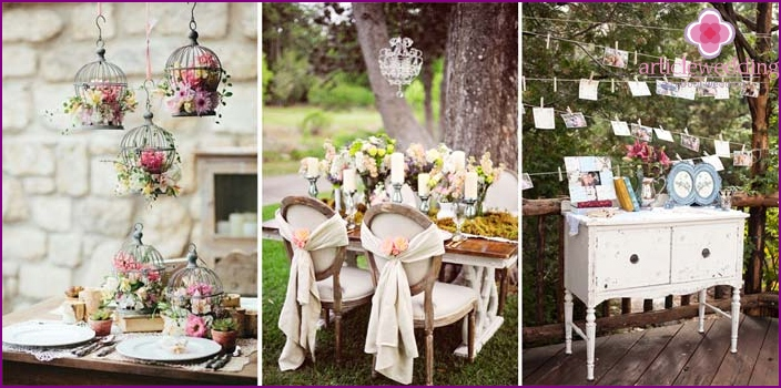 Decoration celebration in the style of Shabby chic.
