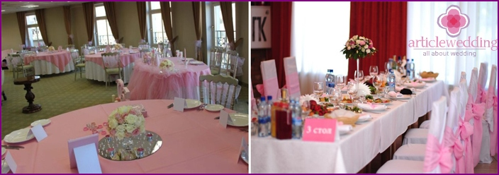 Puppet-style banquet room decoration
