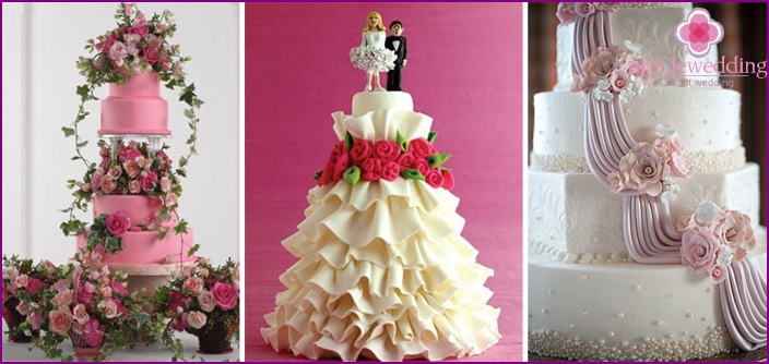 Beautiful cakes for a wedding in the style of Barbie