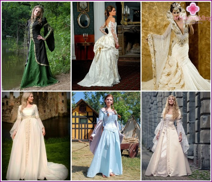 Outfit of a medieval bride