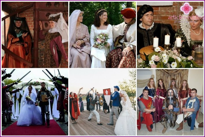 Medieval outfits for wedding guests