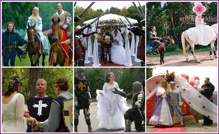 Knight's wedding in nature