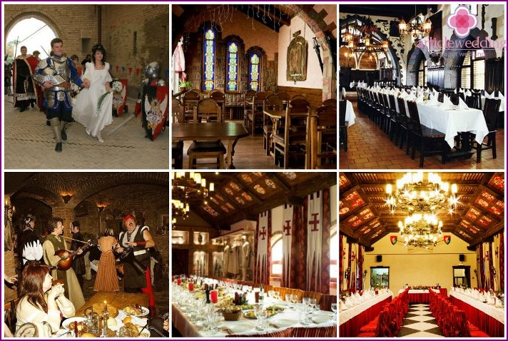 Hall decoration for a knightly wedding