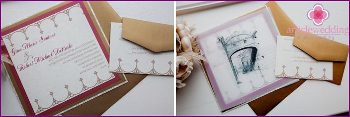 Wedding invitations in selected subjects