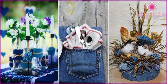 Jeans Hochzeitsdekor