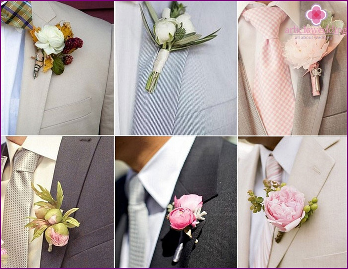 Peonies in the image of the groom