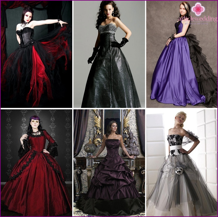 Gothic dresses are gloomy and sexy