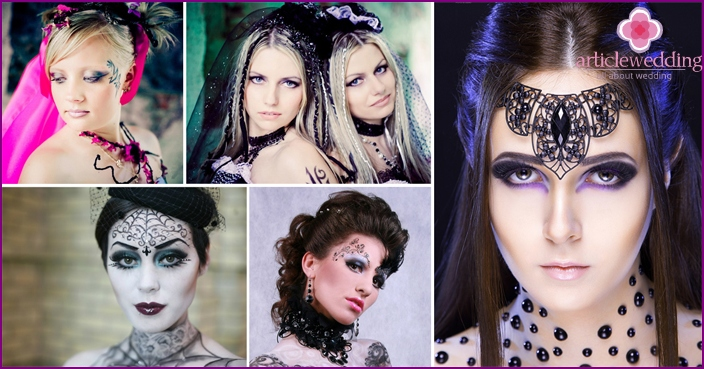 Gothic brides make-up looks