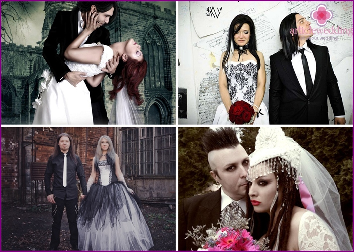 The best with couples in the Gothic style