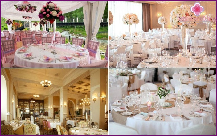 Refined decor of a wedding banquet room