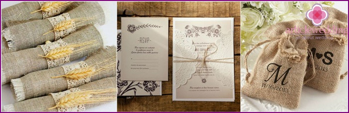 Wedding country invitations for guests