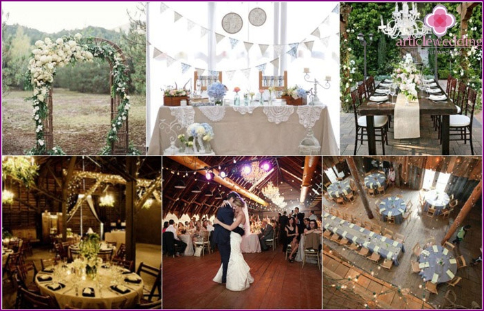 Country Style Wedding Hall Decor