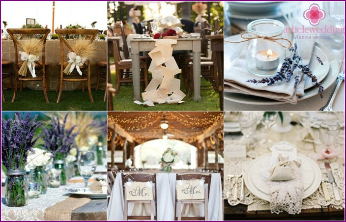 Country Style Wedding Table Decoration