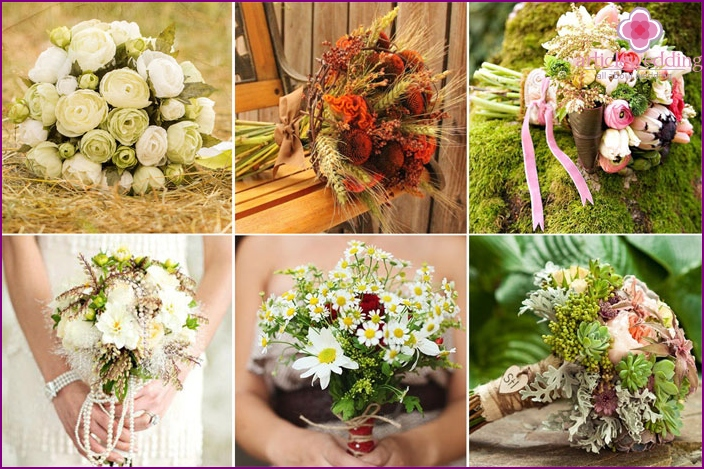 Country style wedding bouquet