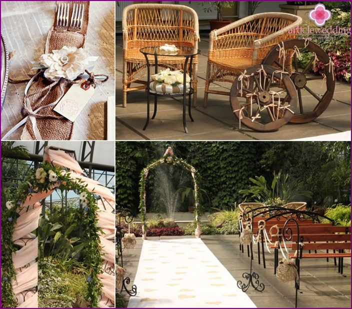 Country Style Wedding Accessories