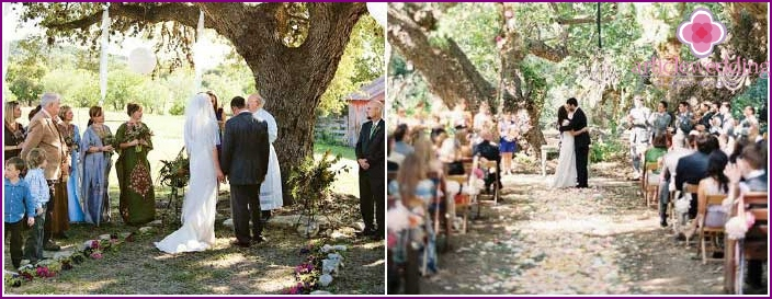 Cowboy wedding in a country ranch