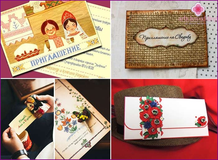 Slavic style wedding invitation