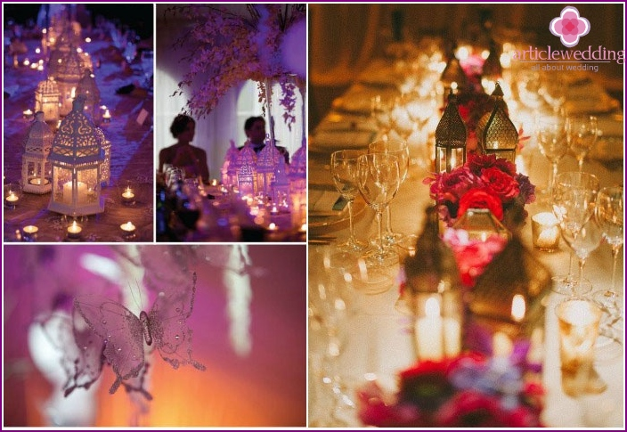 Moroccan wedding light decor
