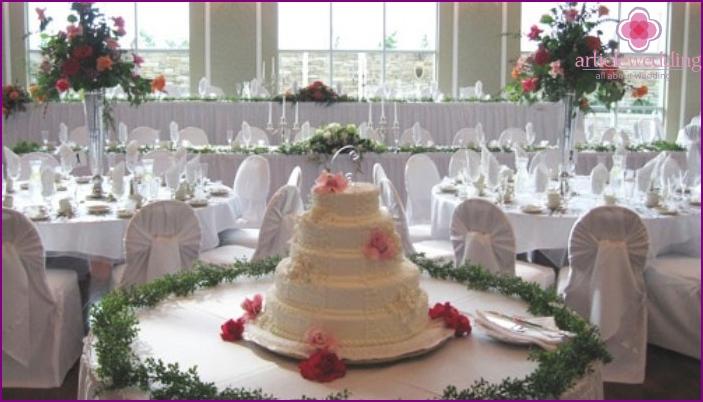 Prepared room for a European wedding