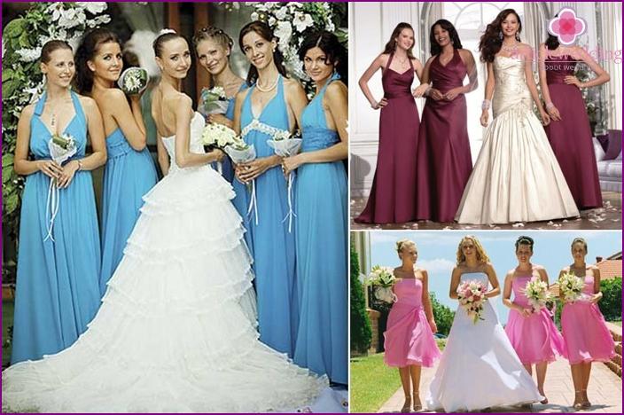 Bridesmaids at a European-style wedding