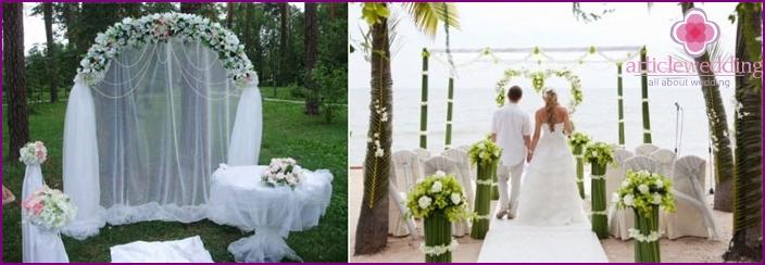 European Wedding Ceremony Scenery