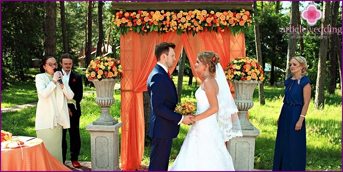 Orange Hochzeit
