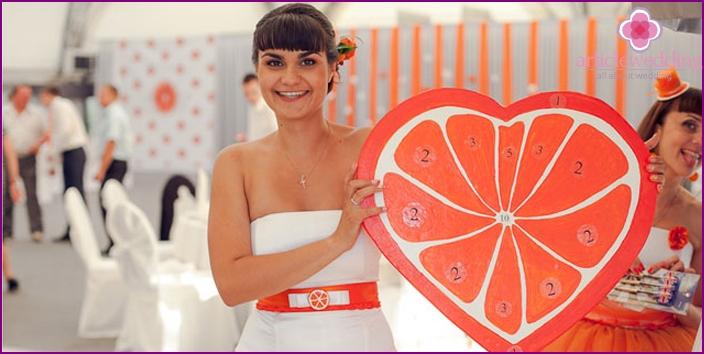 Orange Hochzeitswettbewerb