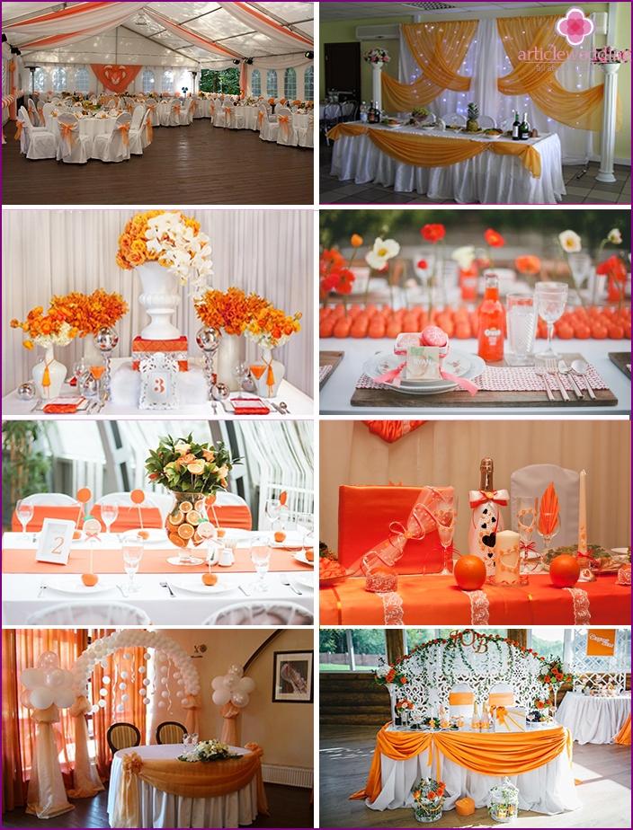 Orange Themen-Hochzeitsideen