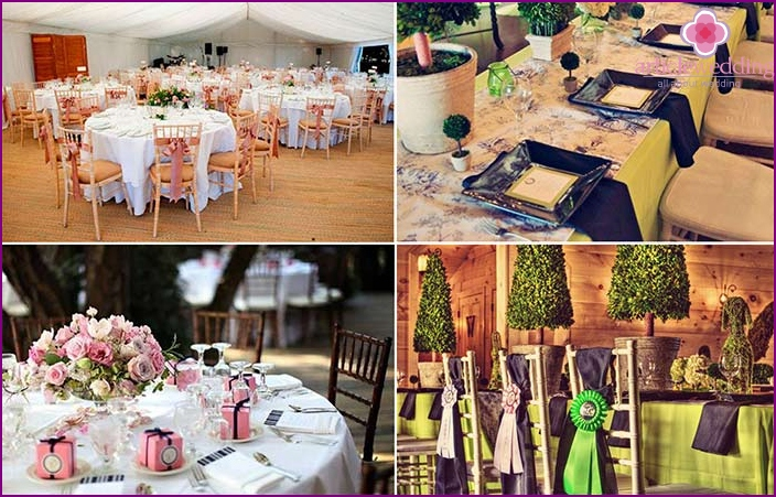English style wedding decor