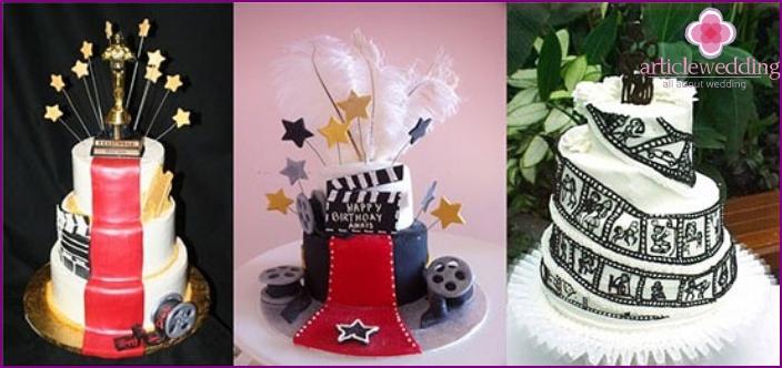 Cake for a movie wedding