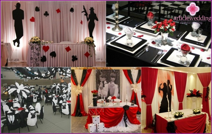 Gangster ballroom decoration