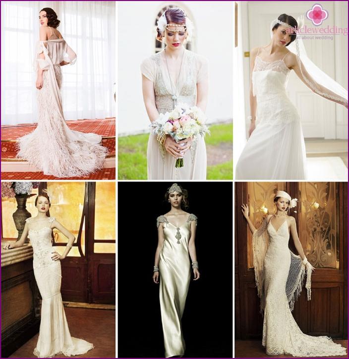 Gatsby-styled wedding dress